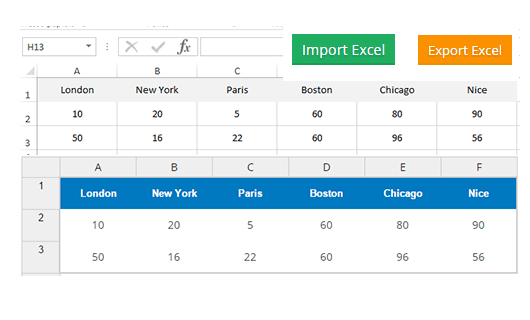 Excel-Import-Export