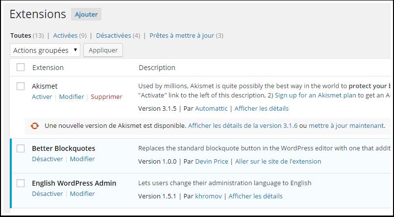 page-de-plugins