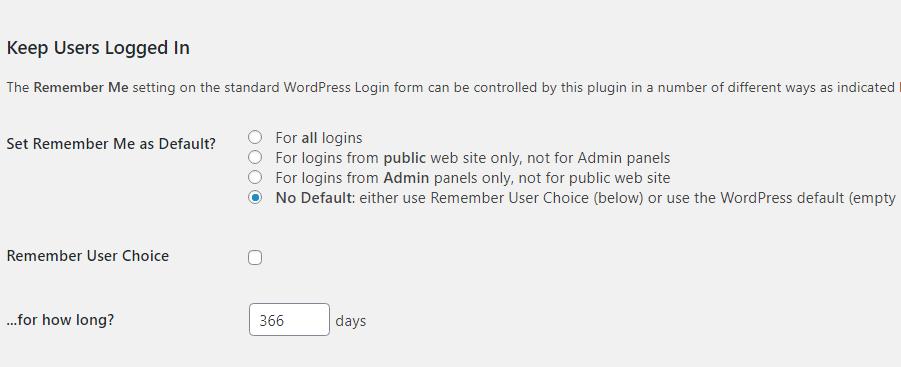 rendre les connexions automatiques persistantes sur WordPress