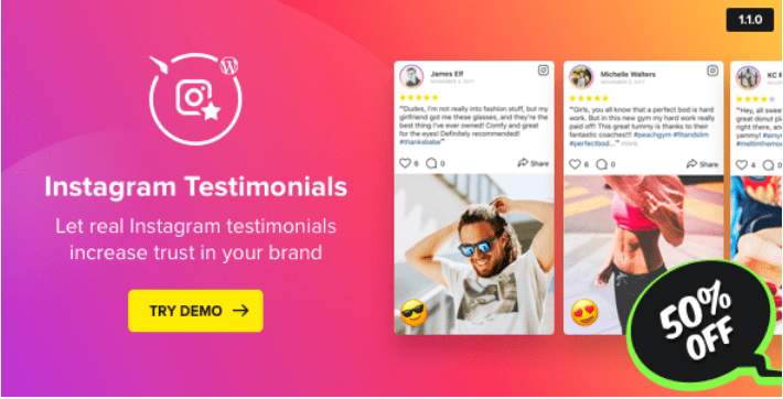 Instagram Testimonials Plugin für WordPress