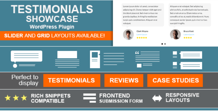 Testimonials showcase wordpress plugin