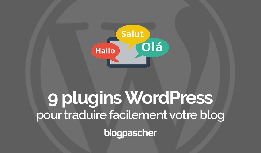 Plugins Traduire Blog Wordpress Site Web