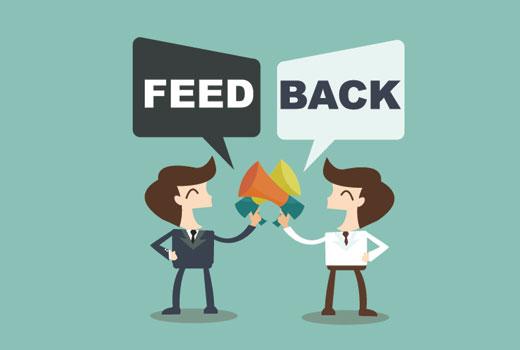 Comment recevoir un feedback sur WordPress