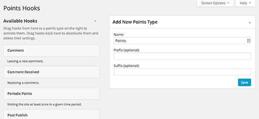Yapılandırma Hook WordPoints