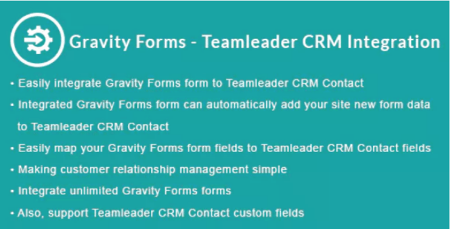 Gravity forms teamleader crm integration