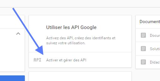 Utiliser les clés API Google Cloud