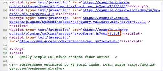 Versão WordPress tutorial plug-in