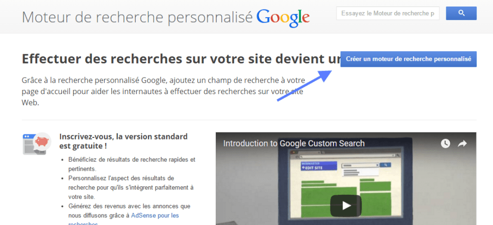 WP Google Search configuration du moteur de recherche