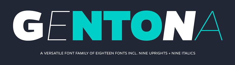 gentona-font chữ cho WordPress