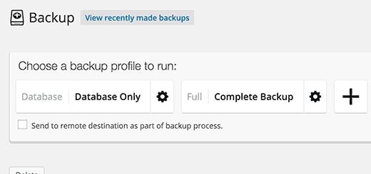 profil de sauvegarde backupbuddy