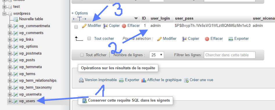 pencarian tabel pengguna wordpress