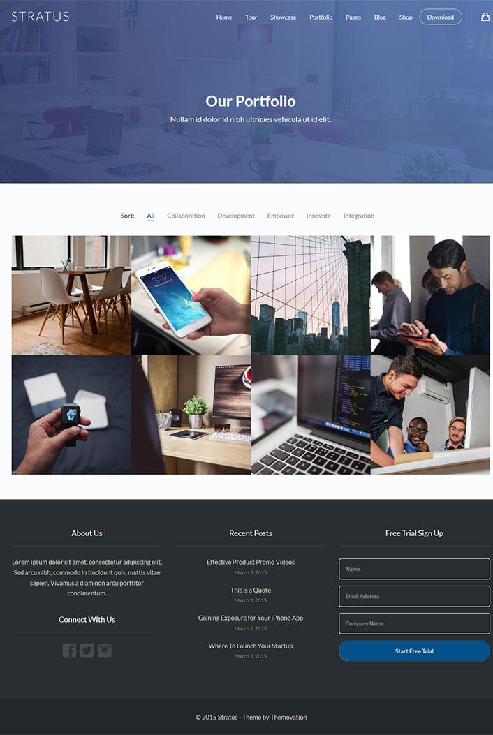 stratus-un-theme-wordpress-pour-site-web-de-startup-compagnies ...