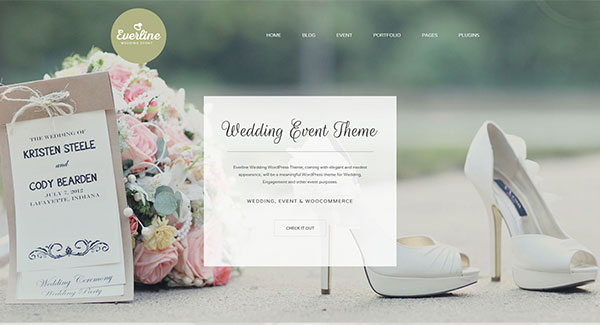 5 th mes wordpress pour un site web de mariage blogpascher. Black Bedroom Furniture Sets. Home Design Ideas