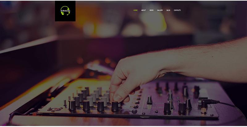 Dj rolando theme wordpress creer site web night club boite nuit