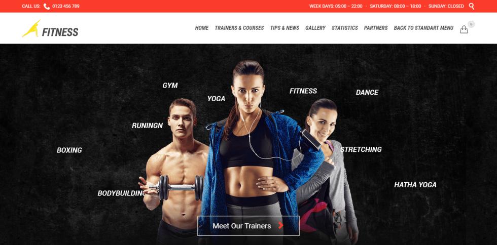 Fitness theme wordpress créer site web club fitness