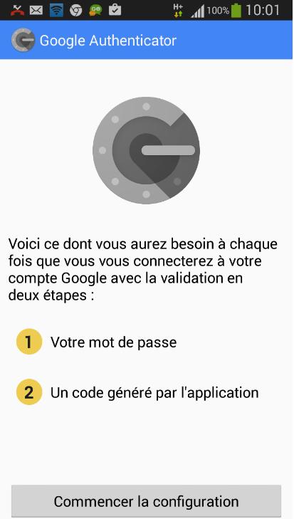 Google Authenticator первый шаг
