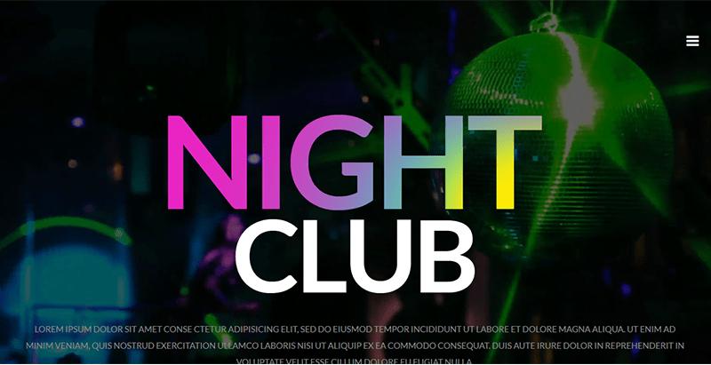 Party theme wordpress creer site web night club boite nuit