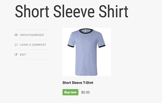 Short Sleeve T-Shirt Shopify tutoriel WordPress