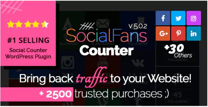 Socialfans plugin wordpress linkedin
