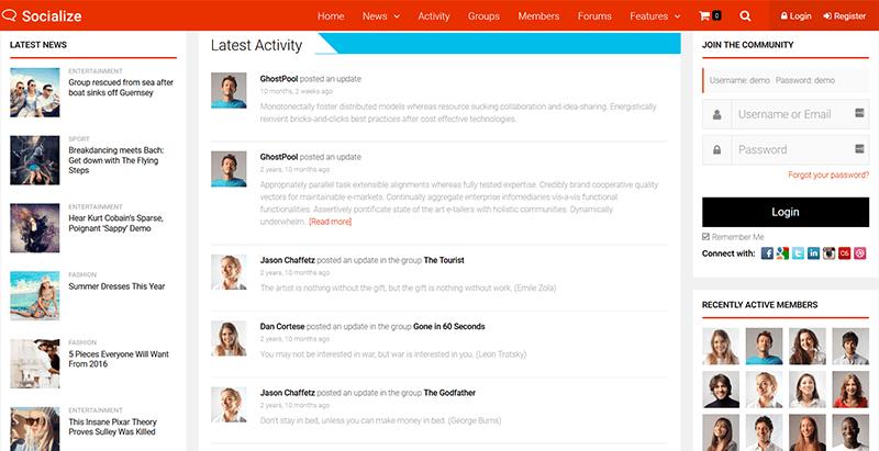 Temas de 5 WordPress para crear un sitio web de citas, redes ...