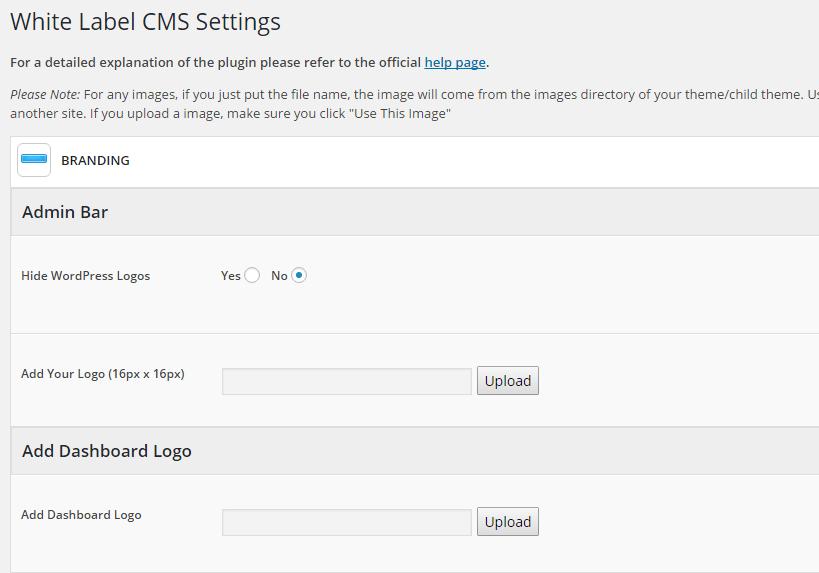 While Label CMS page de configuration