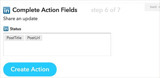 action status linkedin