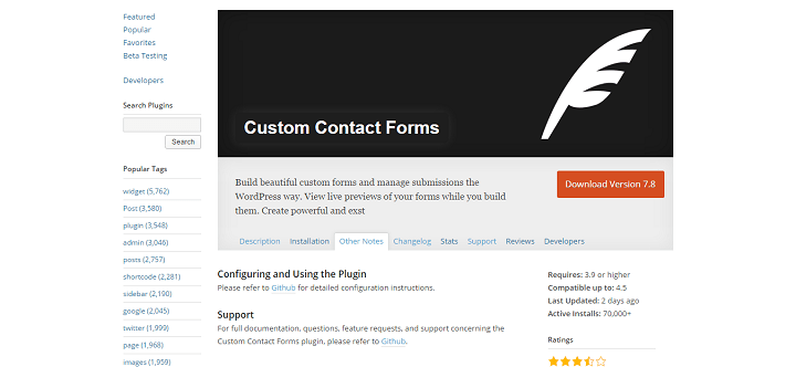 customcontactforms Implementação API REST WordPress