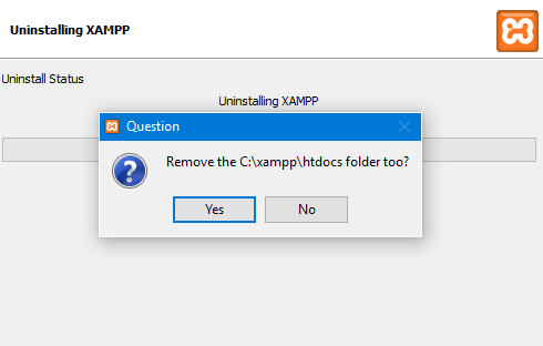 désinstallation Xampp