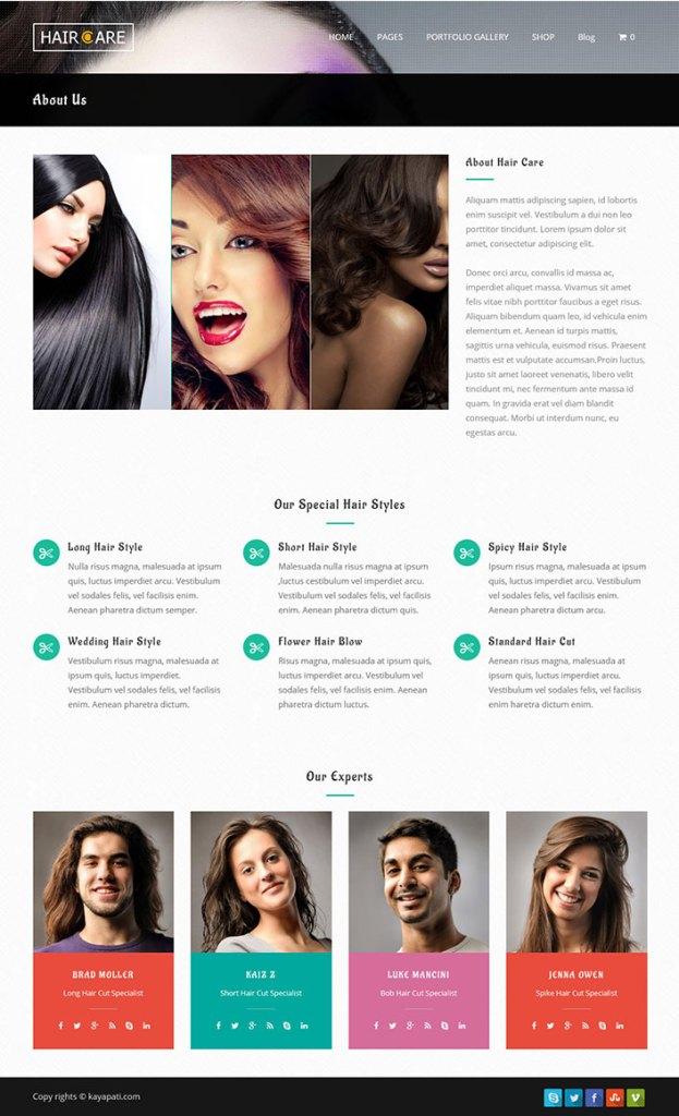 Hair care un th me wordpress pour salon de beaut et spa - Salon de chat gratuit ...