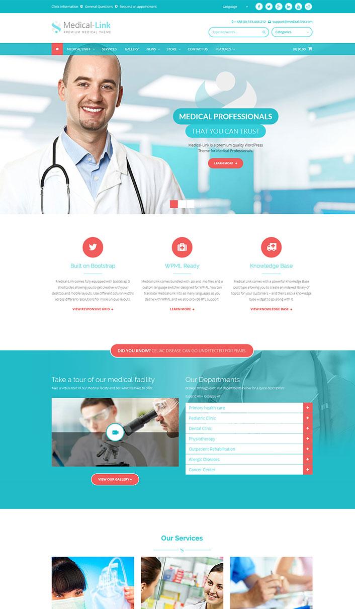 Medical-Link - Ein Wordpress-Theme für Krankenhaus, Klinik ...