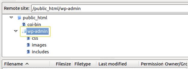 WordPress папки сора-админ