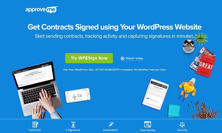 Approveme esignature digital e signature for wordpress