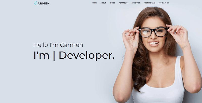 Carmen theme wordpress freelance cv