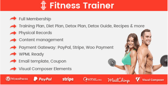 plugins WordPress pour créer un site Web d'e-learning - Fitness trainer training membership plugin