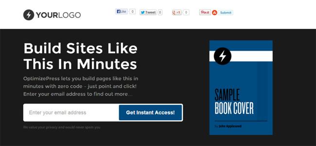 OptimizePress-landing-page-plugin WordPress pour page d'accueil