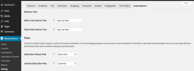 WooCommerce subcription plugin WordPress pour abonnements WooCommerce
