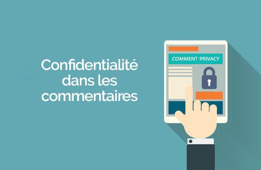 confidentialité dans les commentaires WordPress