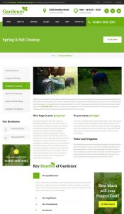 Gardener un th me wordpress pour site web d 39 agriculteur for Jardinier traduction anglais