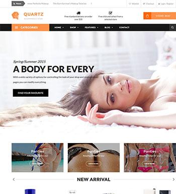 Ri Quartz – Un Thème WordPress Pour Vendre De La Lingerie