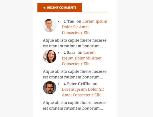 sidebar komentar WordPress