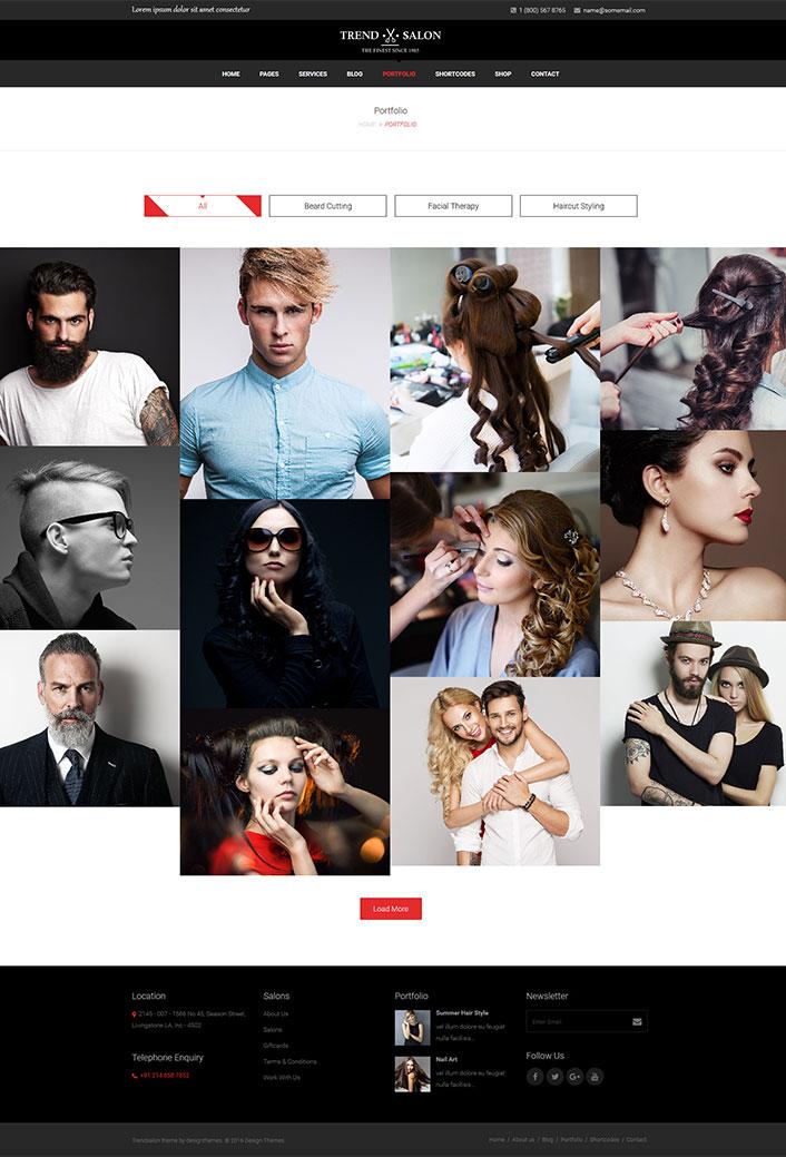 Trend Salon : Un thème WordPress pour un site web de salon de ...