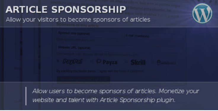 Article sponsorship