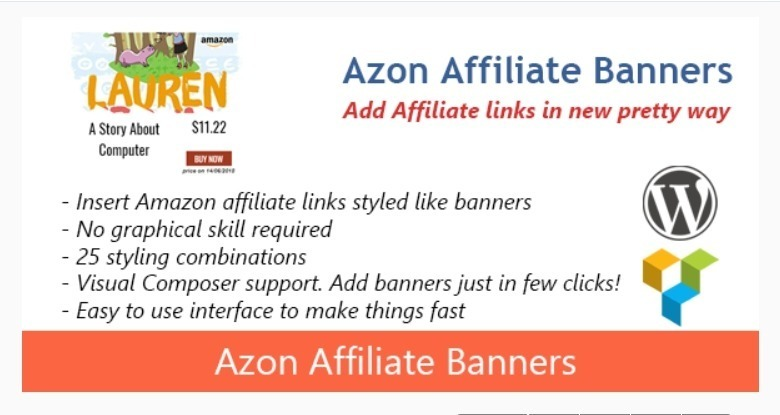 meilleurs plugins WordPress - Azon affiliate banners