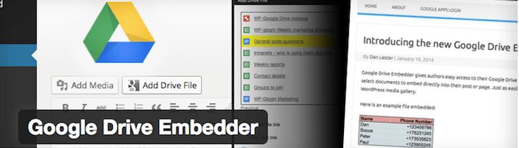 Google-Drive-Embedder-plugin WordPress