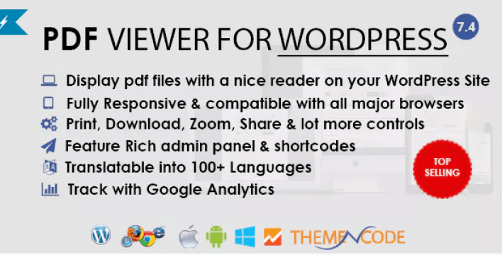 PDF viewer for WordPress plugin WordPress