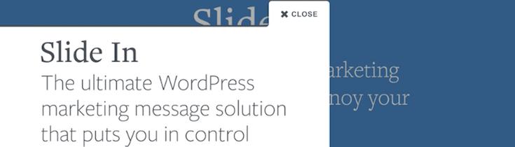 Slide-In-plugin WordPress