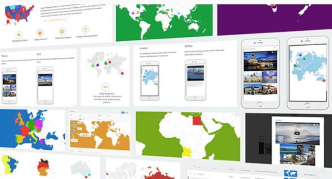 cartes de géolocalisation-Super interactive maps for wordpress