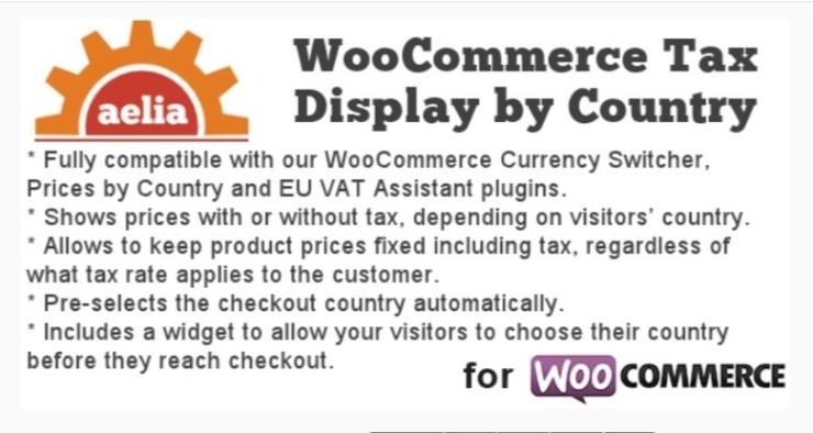 Exibição imposto por País para WooCommerce