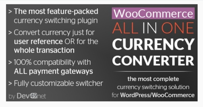 Woocommerce all in one currency converter 1