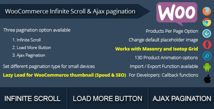 WooCommerce Infinito Scroll e Ajax Paginação